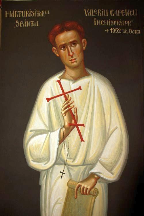 Mărturisitorul Valeriu Gafencu - frescă a mănăstirii Afteia